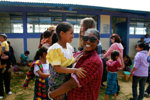 Diamante and student from Cacabal II, school built by Lauralton students in 2013.