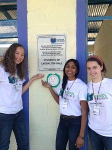 L-R: Kathryn-Rose and classmates Jess Vanam and Gillian Ellis